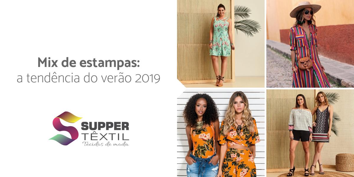 Mix de estampas: a tendência do verão 2019