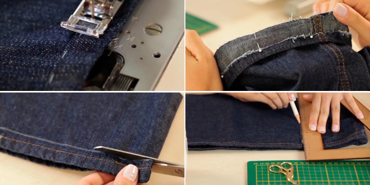 Como Fazer Barra de Calça Jeans Original