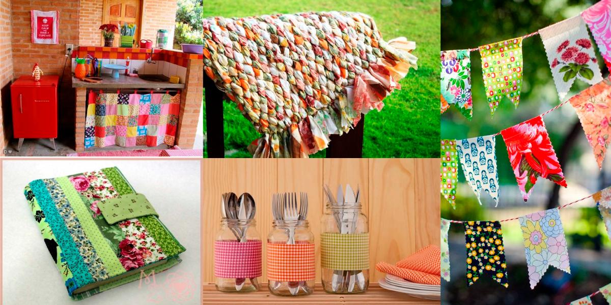 O que fazer com retalhos de tecidos – 5 ideias incríveis